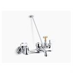 kinlock™ double lever handle service sink faucet with top-mounted wall brace and loose-key stops