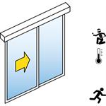 automatische schiebetür (einbruchhemmend rc2/rc3) - 1-flüglig - mit seitenteil - sturzmontage - sl/pst-rc