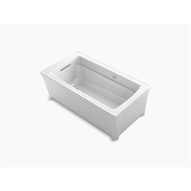 """archer® 62"""" x 32"""" freestanding bath with bask® heated surface"""