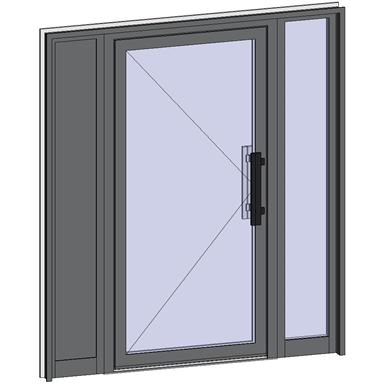 grand trafic doors - single inward opening with 2 fixed