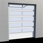 industrial glazed panel door 01 normal and high lift