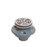 Cast Iron Adjustable Floor Drain with Integrated Level - FD-1190-PR