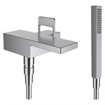 arwa-quadriga, Miscelatore per bagno 1-Point, c. accessori, acciaio inox