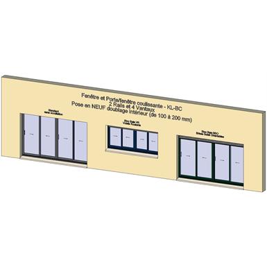 sliding window 2 rails 4 leaves - showcase