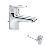 Nox Single lever Wash-basin mixer with automatic waste
