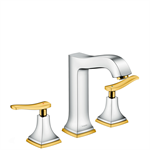 Metropol Classic 3-hole basin mixer 160 with lever handles and pop-up waste set 31331090