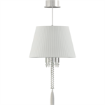 torch ceiling unit white lampshade