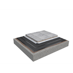 Base KL 2-layer roof system for paving slabs on concrete non-insulated