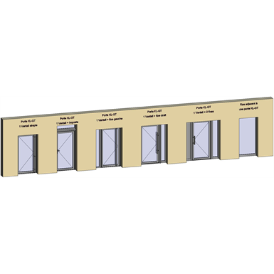 grand trafic doors - anti finger pinch version - single inward opening - showcase