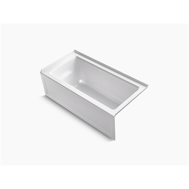 """archer® 60"""" x 30"""" alcove bath with integral apron, integral flange and right-hand drain"""