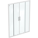 CONNECT 2 2SLIDER DOOR 150 UNHAND IC WHT CLEAR