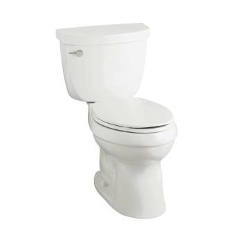 k-3609 cimarron® comfort height® elongated 1.28 gpf toilet with class six® technology and left-hand trip lever, less seat