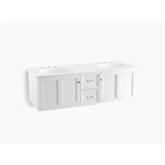 """damask® 60"""" wall-hung bathroom vanity cabinet with 2 doors and 2 drawers"""