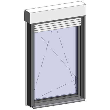 window opening inside with shutter