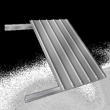 couverture sèche simple peau en acier