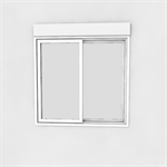 double sliding window with shutter