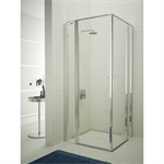 Egipthia - Irto - 2 fixed segments + pivot twin doors at 180º with angle access for shower