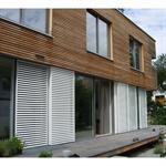 manual sliding shutter symmetric, double leaf