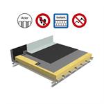 systèmes pour toitures inaccessibles autoprotégées avec isolation sur support bac acier plein