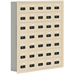 19000 Series Cell Phone Lockers-Recessed Mounted-7 Door High Units-5 Inch Deep Compartments