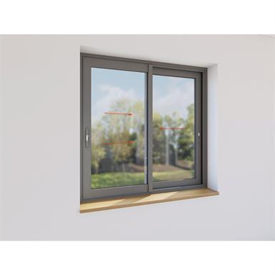 double sliding window aluminium