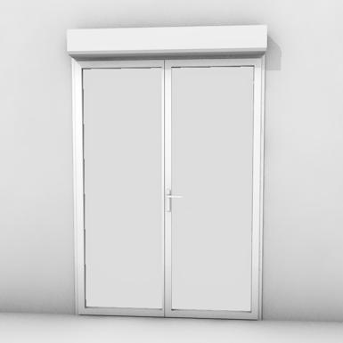 double door with shutter