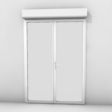 double door with shutter