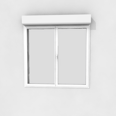 Double window with shutter
