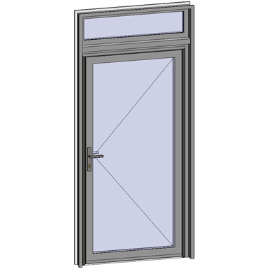 Grand Trafic Doors - Anti Finger Pinch version - Single inward opening with transom