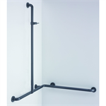 Nylon Care Shower handrail with shower head rail, movable 763x763x1158