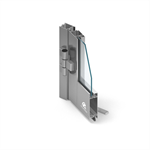 MB-45 two-winged door opening outwards with top fixed window