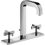 AXOR Citterio 3-hole basin mixer 170 with spout 140 mm, cross handles, plate and pop-up waste set 39134000