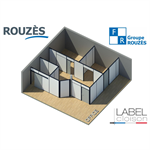 rouzes removable partition full office - range venturi