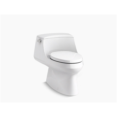 san raphael® skirted one-piece elongated 1.28 gpf toilet with left-hand trip lever