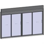 sliding window 2 rails 4 leaves with external venetian blinds