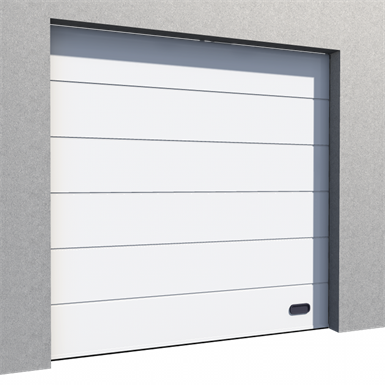 industrial veined wood door ral 9010 normal lift in slope
