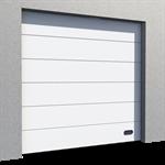 industrial veined wood door ral 9010 normal lift in slope