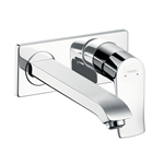 Metris Single lever basin mixer for concealed installation wall-mounted with spout 22.5 cm 31086000