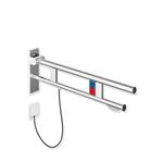 stützklappgriff duo, design b mit wc-papierhalter und spül-/funktionstaste