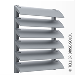 sun shade by speed-fix forks vertical installation and standing blades - azur range