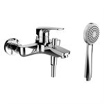 SK Laurin, Miscelatore per bagno, Sporgenza 191 mm, dist. 153 mm, c. raccordi, c. accessori