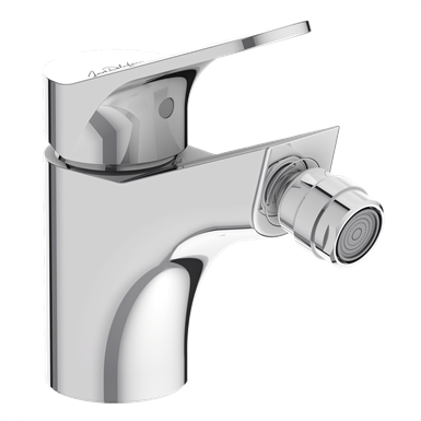 brive - single-lever bidet mixer with supply hoses.