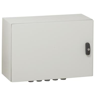 Atlantic IP66 waterproof enclosures - IK10 - RAL 7035 horizontal version 300x400x200 mm to 1000x1200x300mm