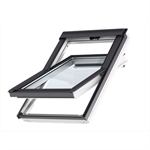 top operated std. polyurethane roof window centre-pivot - glu 0051