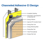 channeled adhesive ci design - senergy wall systems
