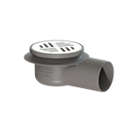kessel-balcony drain 40172.71 lateral ø 75, with inserted cover