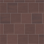 mosa solids - rust red - wall tile surface