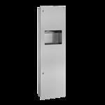510715s  kombi papierhandtuchspender - abfallbehälter unterputz 30 liter