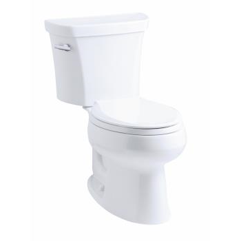 """k-3948-tr wellworth® elongated 1.28 gpf toilet, 14"""" rough-in, right-hand trip lever, tank locks"""