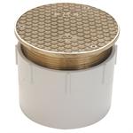 CO2450 Adjustable Floor Cleanout with 5-3/16 Diameter Top
